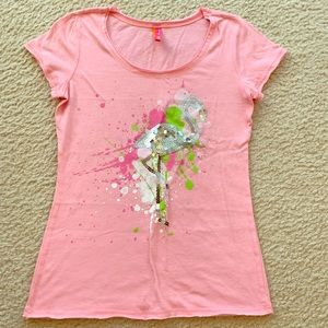 Jenni by Jennifer Moore Pink Flamingo T-Shirt - M